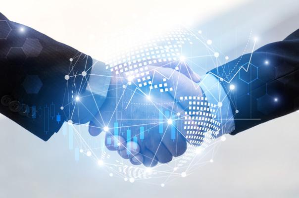 Handshake between adult industry professionals